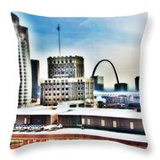 St Louis Skyline Throw Pillow