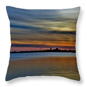 St Louis Sunset Throw Pillow