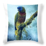 St. Lucia Parrot - Majestic Throw Pillow
