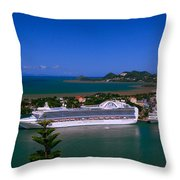 St. Lucia Port Throw Pillow