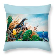 St. Lucia Whiptail Throw Pillow