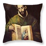 St Luke Throw Pillow