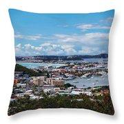St. Maarten Landscape Throw Pillow