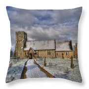 St Margarets Church Ridge Hertfordshire Throw Pillow