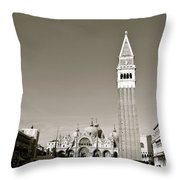 St Marks Square Throw Pillow