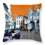 St. Mark's Square Pop Art Throw Pillow