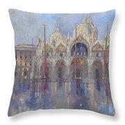 St Mark's -venice Throw Pillow by Peter Miller