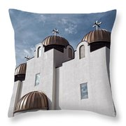 St Mary And St Abraam Coptic Orthodox Church Throw Pillow