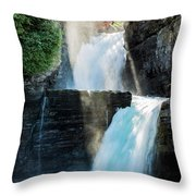 St Mary Falls Throw Pillow
