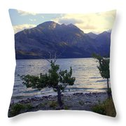 St. Mary Lake Throw Pillow