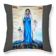 St Mary Of The Valley Throw Pillow