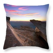 St Mary Peak Sunrise Throw Pillow