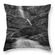 St Mary Triple Cascades - Black And White Throw Pillow