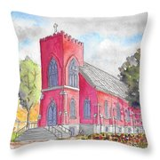 St. Mary's Catholic Church, Oneonta, Ny Throw Pillow