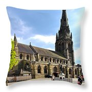 St Mary's Church At Lichfield Throw Pillow