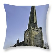 St Mary's Church At Uttoxeter Throw Pillow
