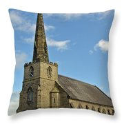 St Mary's Church - Coton In The Elms Throw Pillow