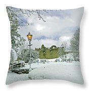 St Mary's Churchyard - Tutbury Throw Pillow