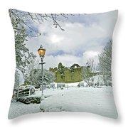 St Mary's Churchyard - Tutbury Throw Pillow