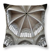 St. Mary's Dome And Windows, Valencia, Spain Throw Pillow