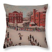 St Mary's First Friday Mass Throw Pillow
