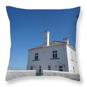 St. Mary's Island And The Lighthouse. Throw Pillow