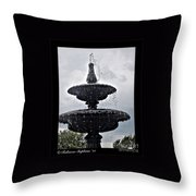 St. Mary's Water Fountain Throw Pillow