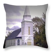 St. Mathews Chapel In Sugar Hill Throw Pillow