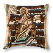 St. Matthew, 10th Century Throw Pillow