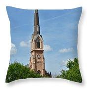 St. Matthew's German Evangelical Lutheran Church In Charleston Throw Pillow