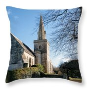 St Michael And All Angels Church -- Little Bredy Throw Pillow