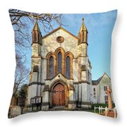 St Michael And St George R.c Church - Lyme Regis Throw Pillow
