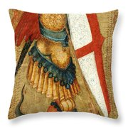 St Michael And The Dragon Throw Pillow