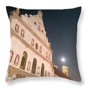 St. Michael, Lady And Moon Throw Pillow