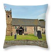 St Michael's Church At Willington Throw Pillow