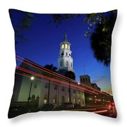 St. Michael's Episcopal Church In Charleston, South Carolina Throw Pillow