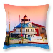 St. Michael's Lighthouse Throw Pillow