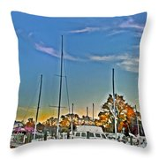 St. Michael's Marina On The Chesapeake Throw Pillow