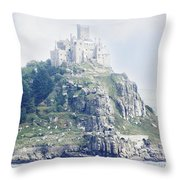 St Michael's Mount Cornwall England Throw Pillow