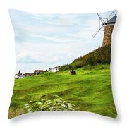 St Monans Windmill Throw Pillow