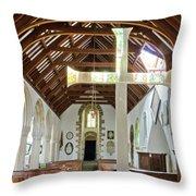 St Mylor Altar Cross Throw Pillow