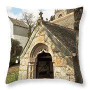 St Mylor And Bell Tower Throw Pillow