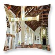 St Mylor Cross Reflections Throw Pillow