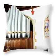 St Mylor Organ Pipes Throw Pillow