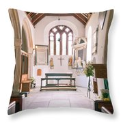 St Mylor South Aisle Chapel. Throw Pillow
