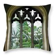 St Nicholas And St Magnus Church Window - Impressions Throw Pillow