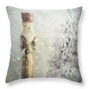 St Nicholas In The Snow Throw Pillow