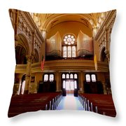 St. Nicholas Of Tolentine Church - Iv Throw Pillow