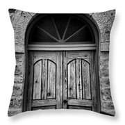 St Olafs Church Door Throw Pillow