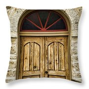 St Olafs Kirke Door Throw Pillow